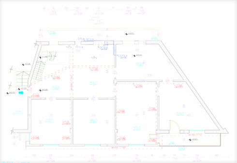תוכנית הדירה לפני השיפוץ (תוכנית: סמי שלום כנפו)