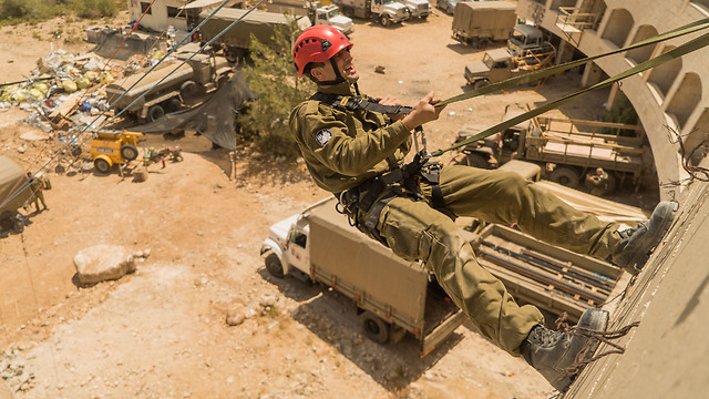 IDF soldiers taking part in the rescue exercise (Photo: IDF Spokesperson's Unit)