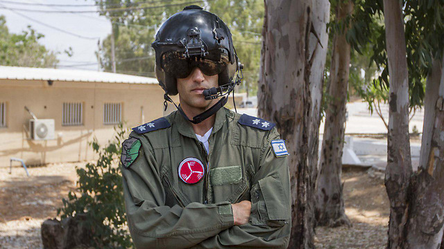 Commander of IAF forces during exercise, Lt. Col. 'G' (Photo: Ido Erez) (Photo: IDF Spokesperson's Unit)