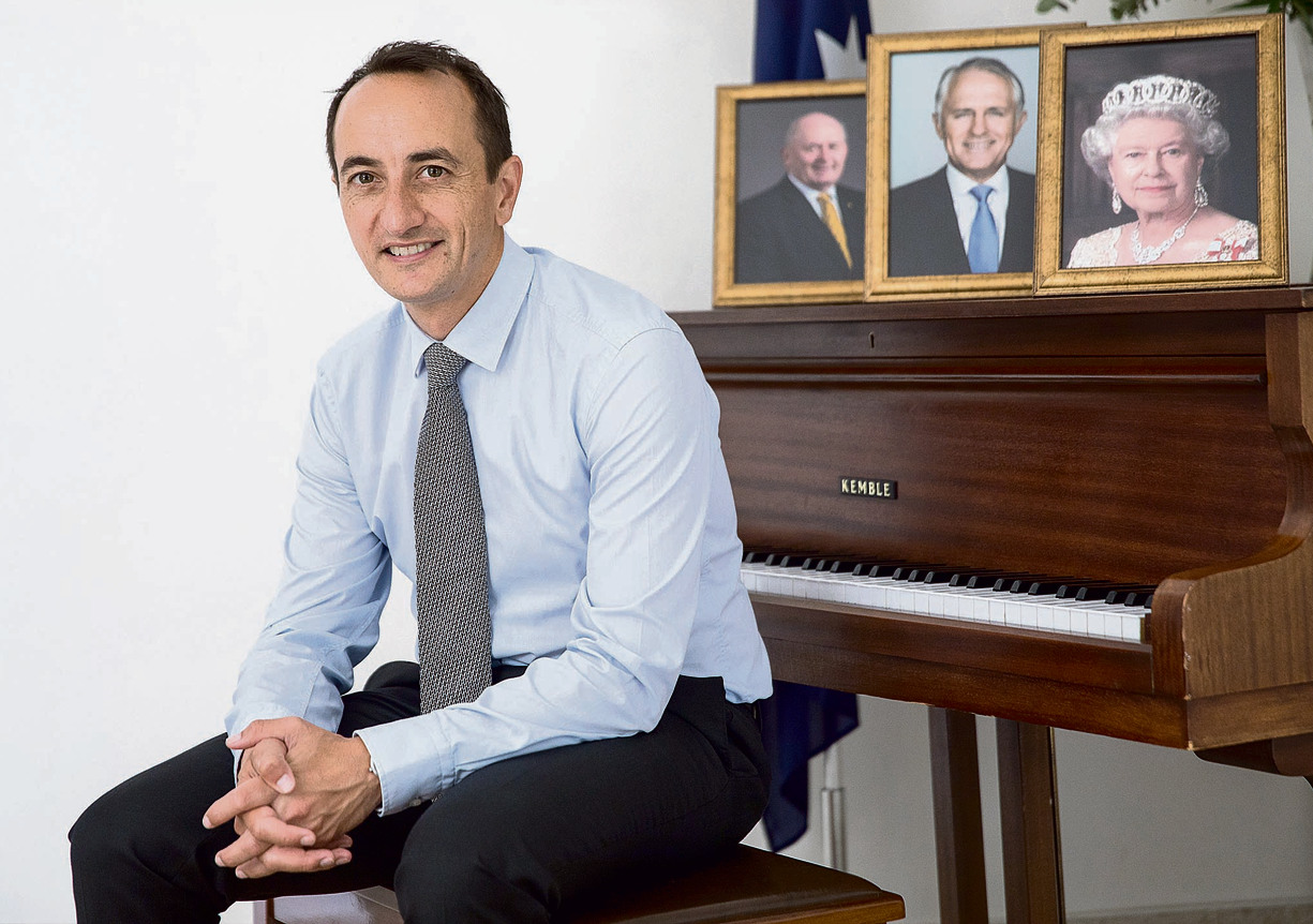 Sharma at his home (Photo: Tal Shahar)