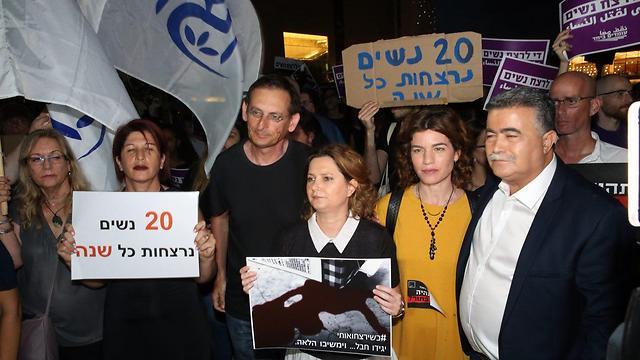 From right: Peretz, Zandberg, Rozin and Hanin (Photo: Motti Kimchi)