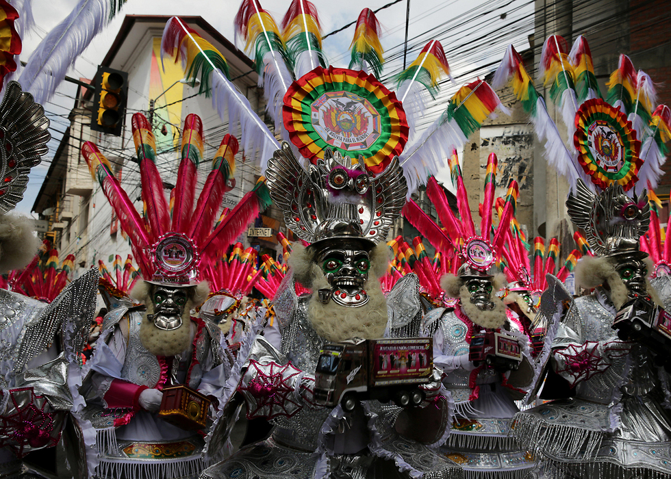 """המצעד השנתי לכבוד """"אדון הכוח הגדול"""" בלה פס, בוליביה (צילום: רויטרס)"""