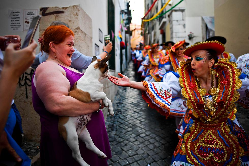 מצעד ביום אנתוני הקדוש בליסבון, פורטוגל (צילום: AFP)