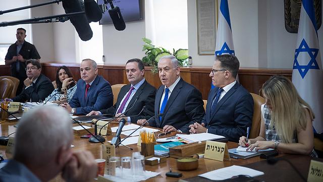 Заседание правительства. Фото: Йонатан Зиндель, Flash90