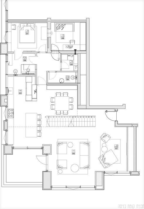 תוכנית הקומה העיקרית  (תוכנית: סטודיו גלי אמית)