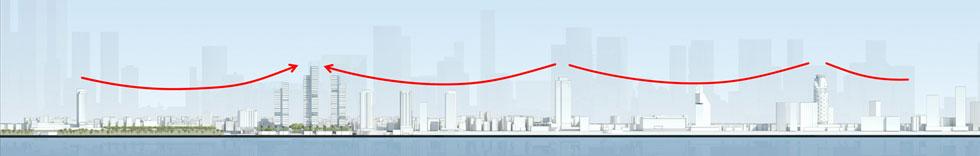חומת המגדלים של תל אביב תתעדכן ברביעייה נוספת. לחצו על ההדמיה כדי לראות את המפה המלאה (צילום: מתוך tel-aviv.gov.il)