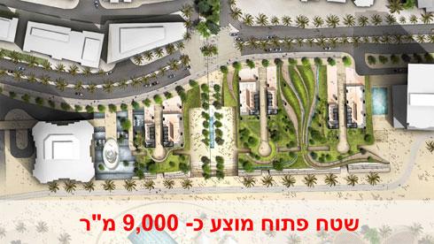 עוברים דרך שלישיית מגדלים (צילום: מתוך tel-aviv.gov.il)