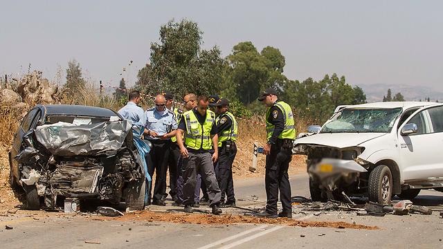 מוקדם יותר: גבר ואישה נהרגו בתאונה בעמק חפר  (צילום: עידו ארז)