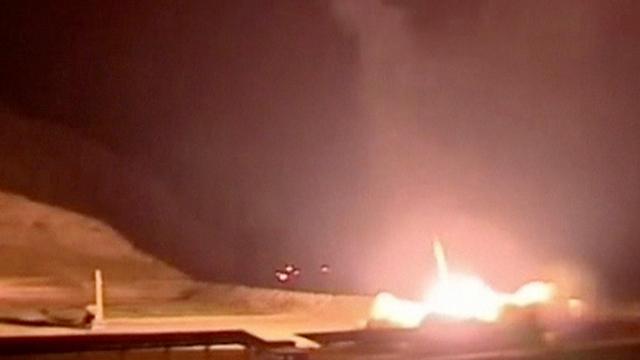 שיגור הטילים מאיראן לסוריה (צילום: רויטרס)