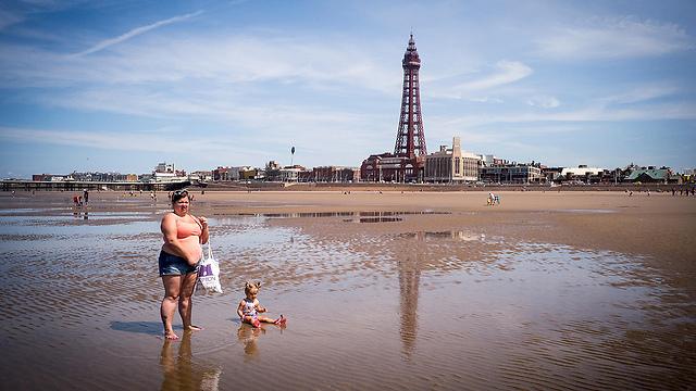 החוף בבלקפול, אנגליה (צילום: gettyimages)