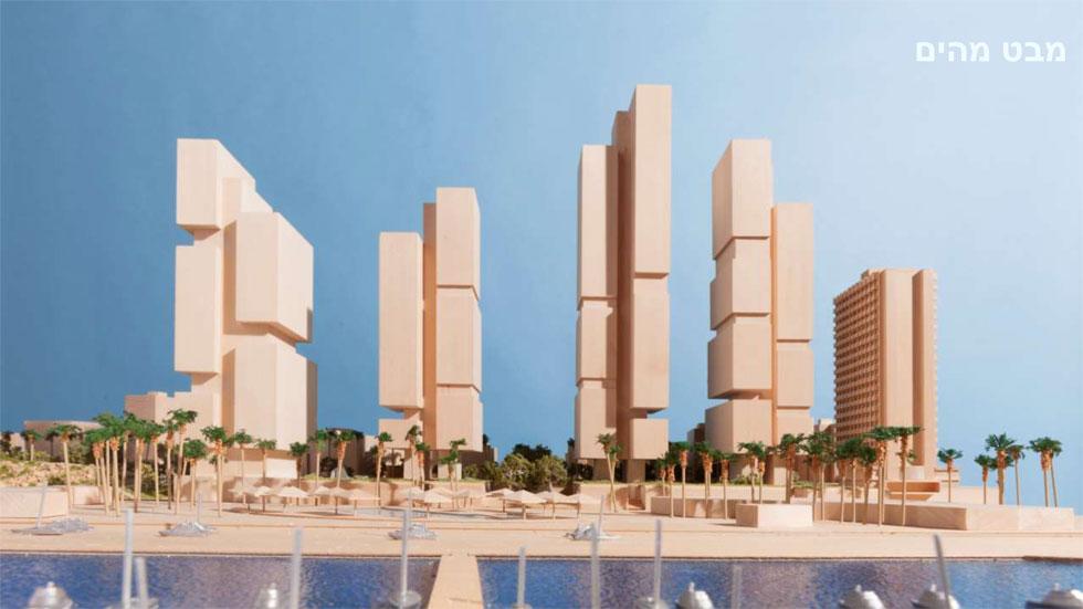 התוכנית של האדריכל הבריטי נורמן פוסטר לארבעה מגדלים (כולל מלון קרלטון שרוצה להצטרף לפרויקט). עכשיו העירייה מסכימה לצמצם את הנזק (צילום: מתוך tel-aviv.gov.il)