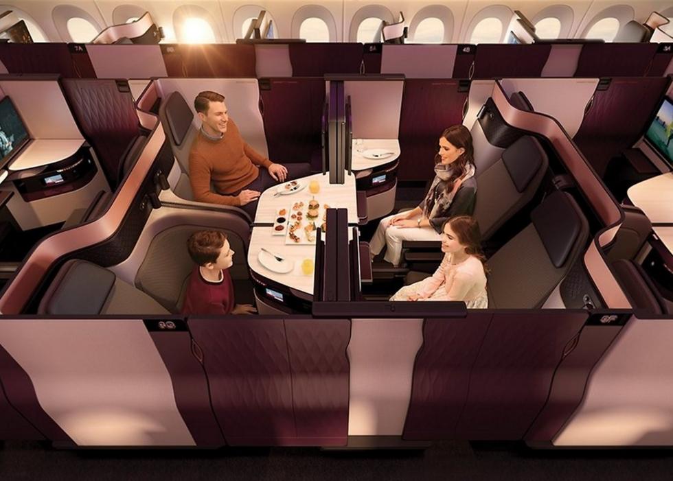 מחלקת הסוויטות של קטאר (צילום: Qatar Airways) (צילום: Qatar Airways)