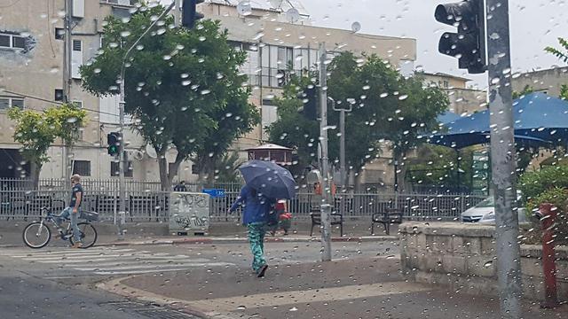 Rain in Tel Aviv