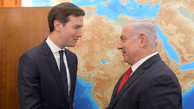 Kushner with Netanyahu (Photo: Amos Ben Gershom/GPO)