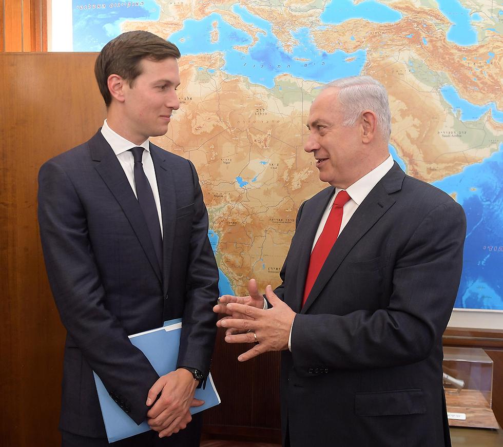 Jared Kushner and PM Netanyahu (Photo: Amos Ben Gershom/GPO)