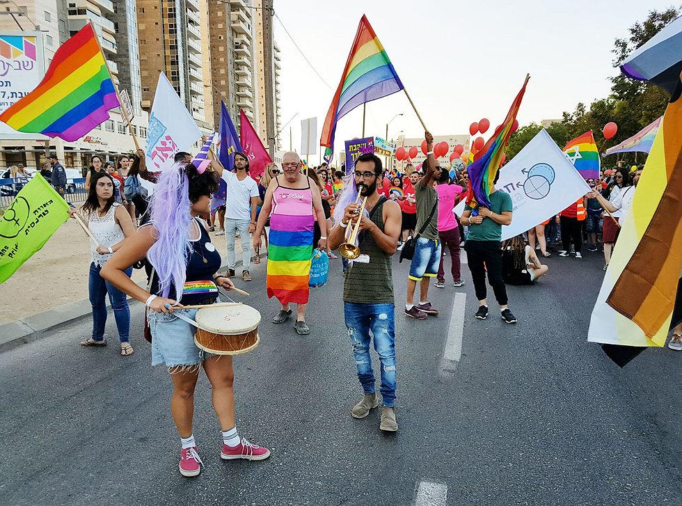 מצעד הגאווה הראשון בבאר שבע, אשתקד (צילום: הרצל יוסף) (צילום: הרצל יוסף)