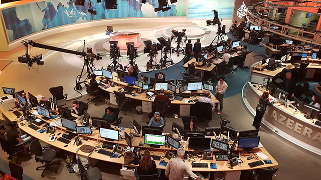 Al-Jazeera studio in Qatar (Photo: AP)