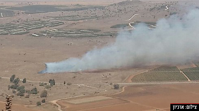 זליגת ירי ברמת הגולן, ארכיון (צילום: אחיה ראב''ד)
