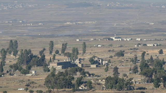 The area hit by mortar shells from Syria (Photo: Avihu Shapira)