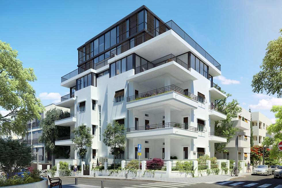 כך ייראה הבית אחרי השימור ובניית התוספת העצומה. מה יקרה לדירה של ביאליק, שהיא הורתה לעירייה להוריש לציבור? (הדמיה: ITSTUDIO)