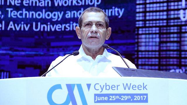 Archive: Shin Bet chief Nadav Argaman addresses a cyber conference at Tel Aviv University  (Photo: Moti Kimchi)