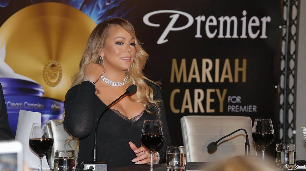 Mariah Carey at the Dead Sea Premier press conference (Photo: Shuka Cohen)