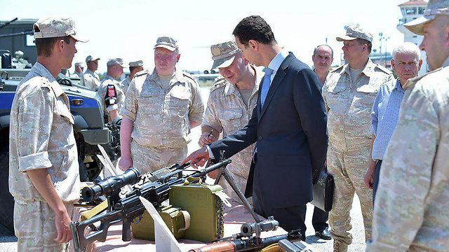 Syrian President Bashar Assad visiting a Syrian Air Force base in Latakia (Photo: AFP)