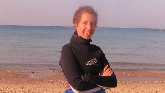 """""""לקדם שמירה של הטבע ובמיוחד של הים"""". מי-טל גבינג (צילום: איתי גרנות)"""