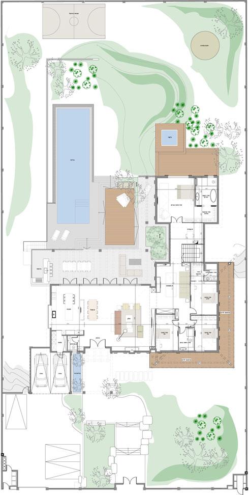 תוכנית הבית (תוכנית: באדיבות שרון ויזר אדריכלים)
