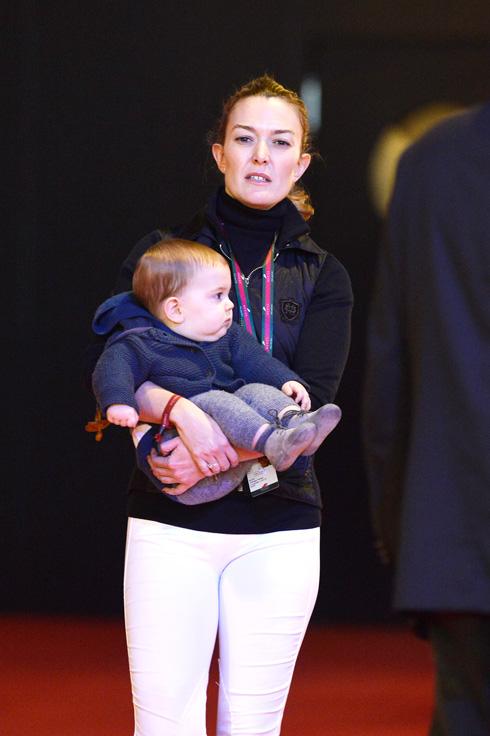 מרתה אורטגה לאחר לידת בנה, אמנסיו אורטגה אלברז, בשנת 2013 (צילום: Gettyimages)