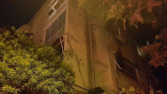 הדירה שבה פרצה השריפה ()