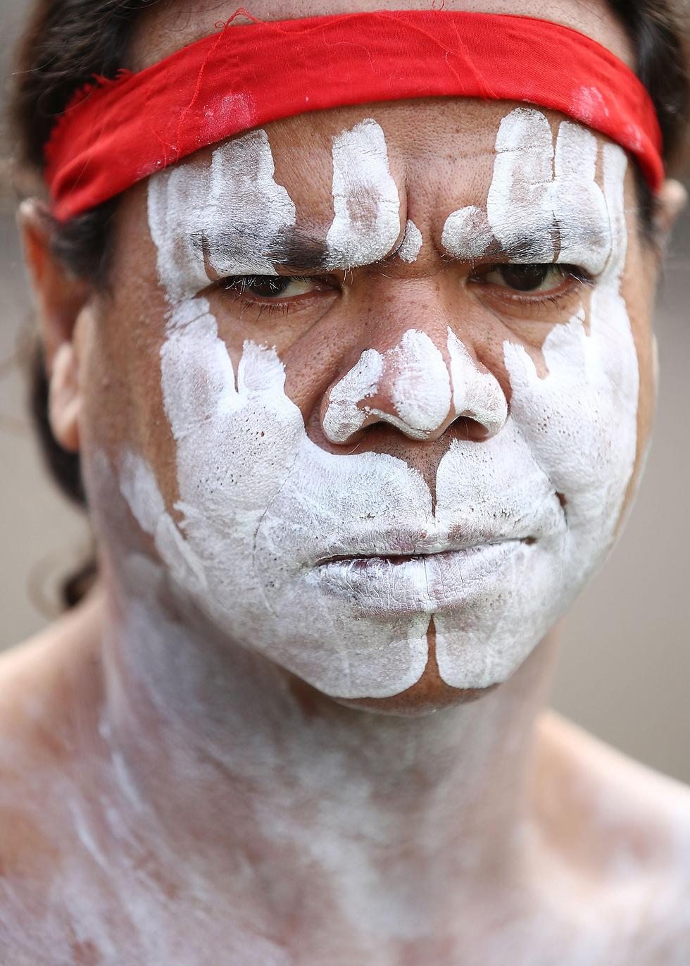 אבוריג'יני בטקס קבלת פנים בבית הממשלה בסידני, אוסטרליה (צילום: gettyimages)