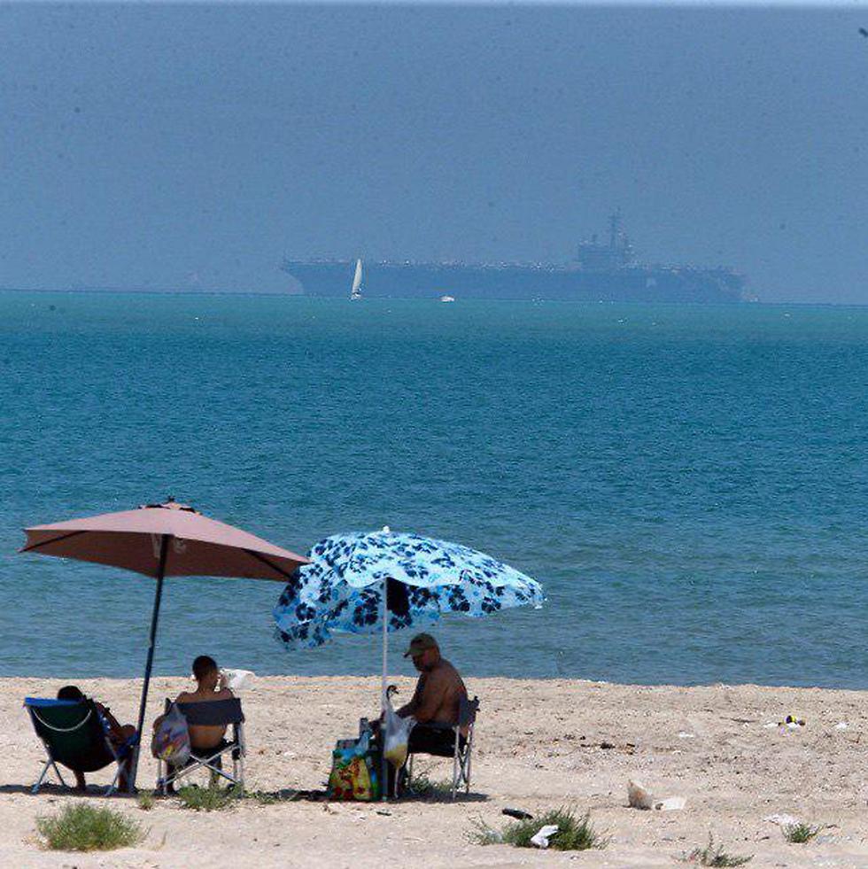 הנוף החדש מהחוף של חיפה (צילום: מוטי קמחי)