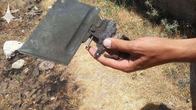 """שרידי טיל נ""""ט שהמורדים שיגרו בקוניטרה ()"""