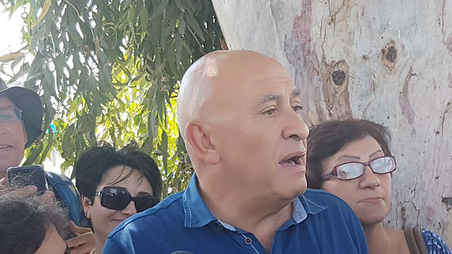Basel Ghattas before entering prison (Photo: Gil Nachshoni)