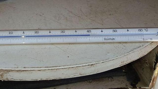 יותר מ-40 מעלות בקבוצת כנרת (צילום: רבקה מבטח) (צילום: רבקה מבטח)