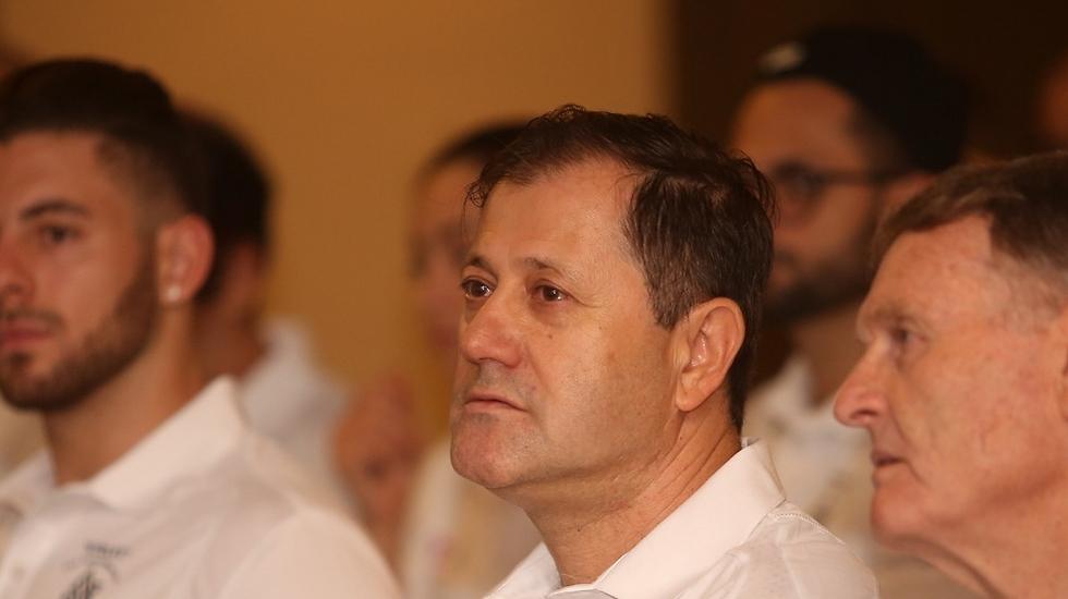 """נשיא התאחדות """"אילת"""" אריק קפלן במהלך אחת ההרצאות (צילום: חן גלילי) (צילום: חן גלילי)"""