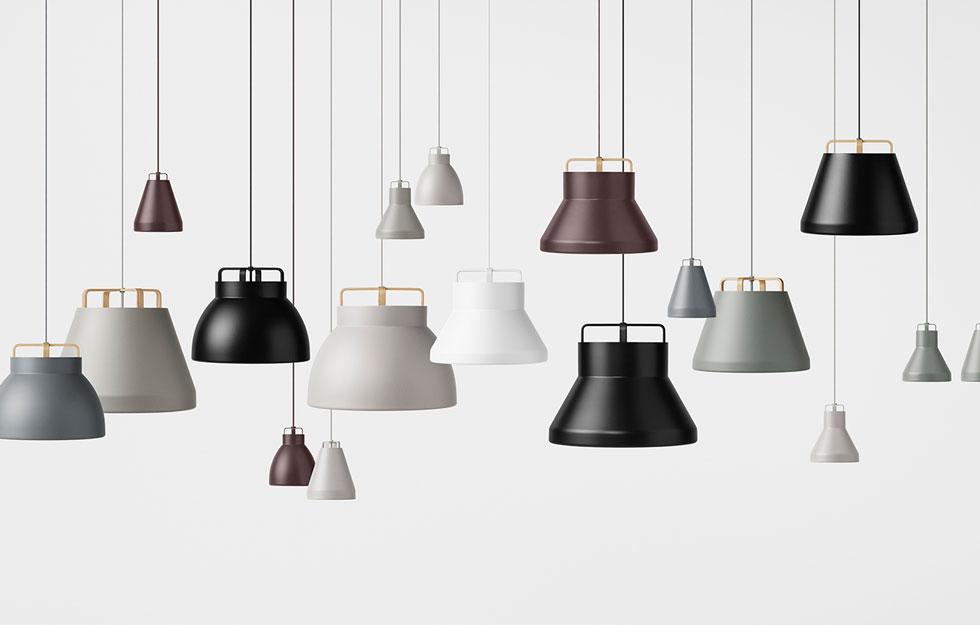 המנורות של Million נוצרו בהשראת מנורות תעשיות צרפתיות. האהילים עשויים מאלומיניום או מאלומיניום משולב בעץ (עיצוב: million)