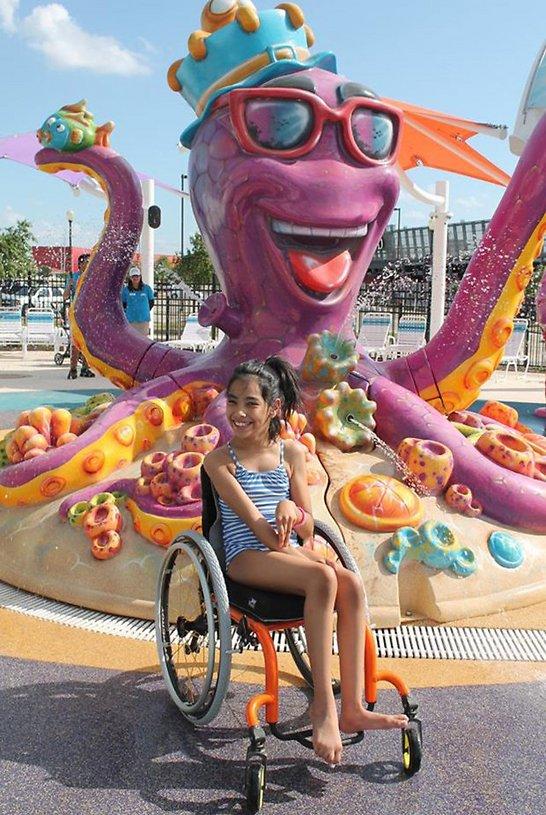כיסאות גלגליים מטעם הפארק המונעים בכוח דחף אוויר