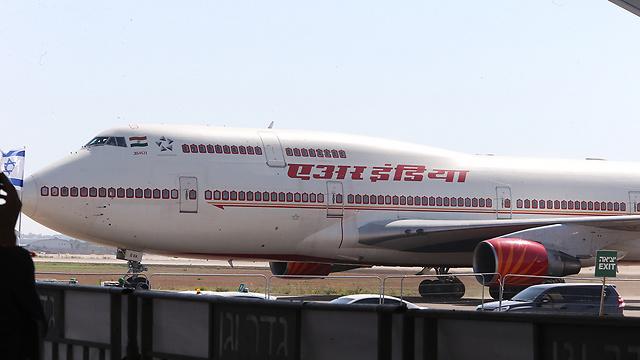 מטוס אייר אינדיה (צילום: מוטי קמחי)
