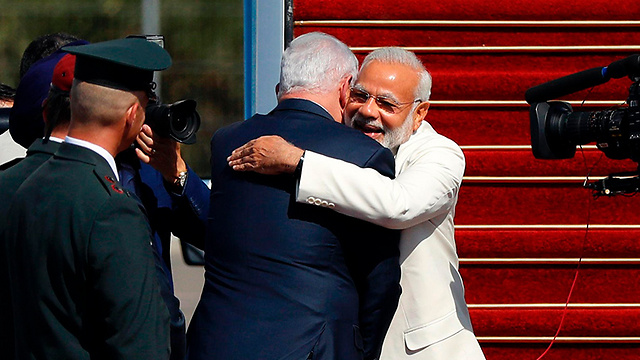 If and when India is forced to choose between Israel and the Arab states—during a conflict with the Palestinians, for example—all the hugs in the world won't really help us (Photo: AFP
