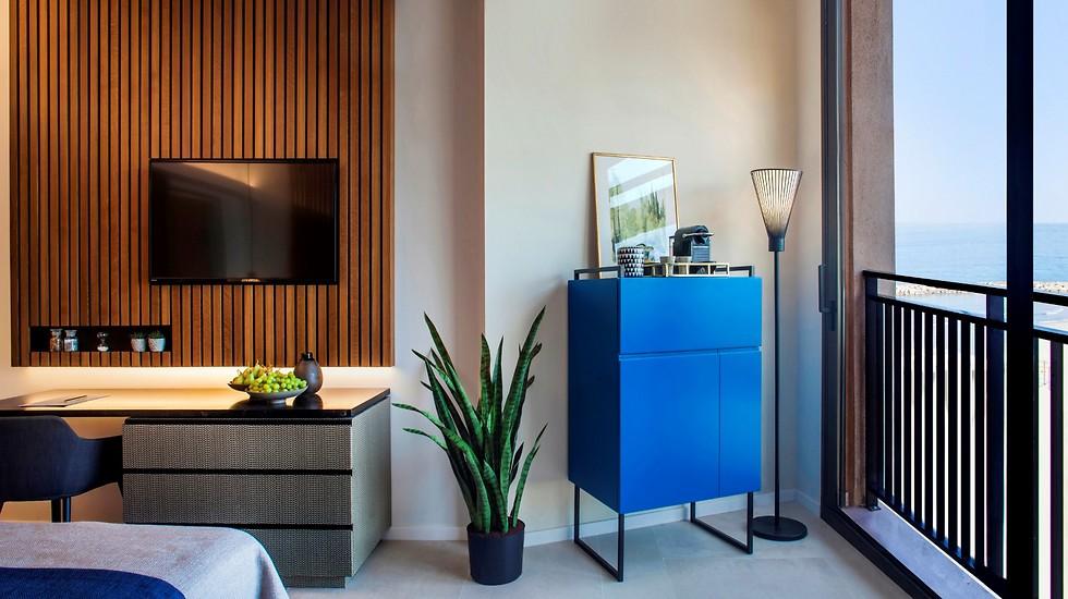 עיצוב חדש וצעיר יותר ב-117 החדרים במלון (צילום: יואב גורין)