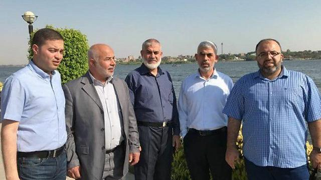 Hamas representatives in a diplomatic meeting in Egypt in July