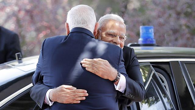 ראש ממשלת הודו בפגישה עם הנשיא ריבלין (צילום: AFP) (צילום: AFP)