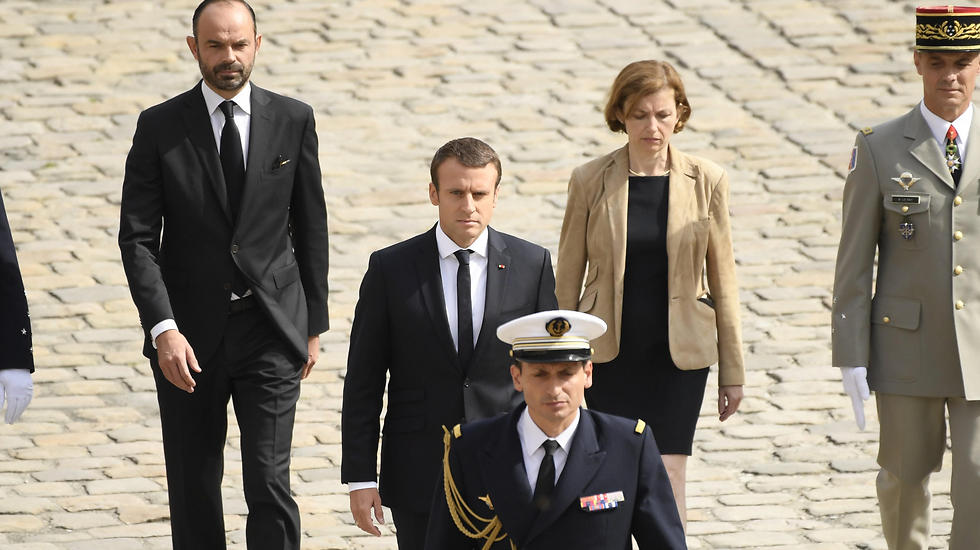 French President Emmanuel Macron at the ceremony (Photo: EPA)