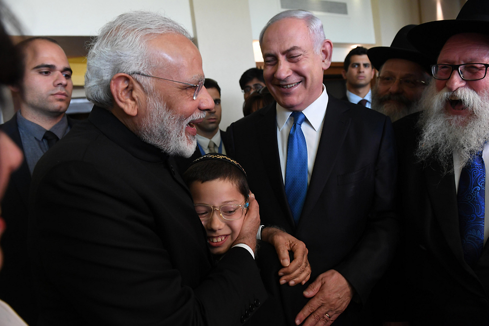 PM Modi and Moshe (Photo: Haim Zach/GPO)
