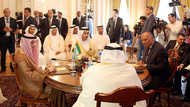 Gulf foreign ministers in Cairo (Photo: Reuters) (Photo: Reuters)