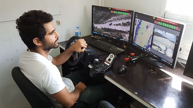 The remote driver of the Humvee (Photo: Yoav Zitun)