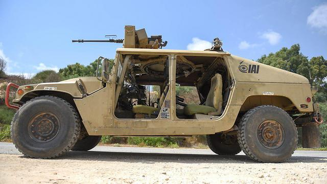 Remotely driven Humvee (Photo: IDF)