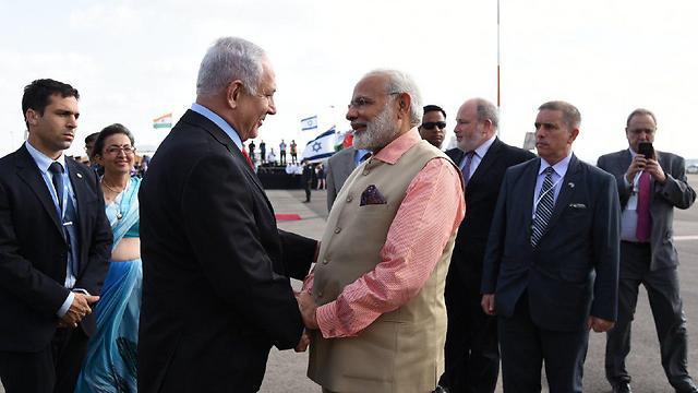 PM Netanyahu with President Modi